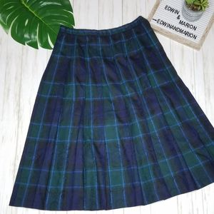 NWT Vtg Pendleton Plaid A-line Pleated Skirt